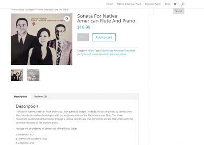 St. Louis Native Flute shop page