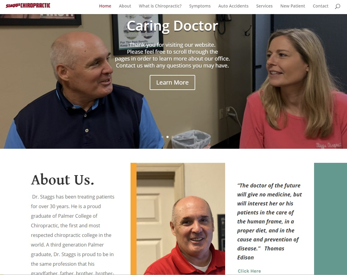 Staggs Chiropractic home page