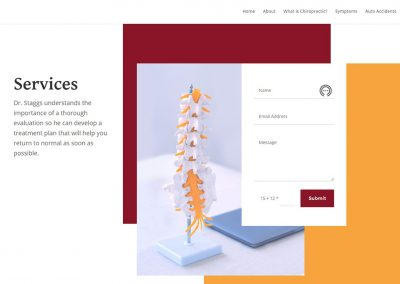 Staggs Chiropractic services page