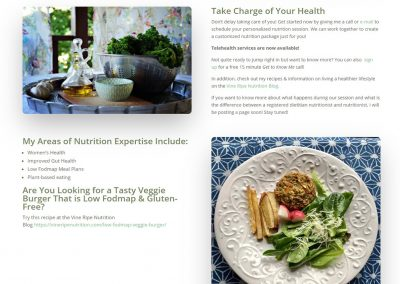 Vine Ripe Nutrition page example