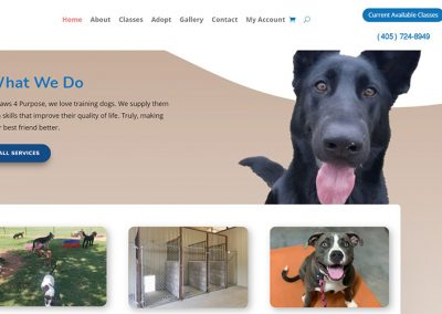 Paws 4 Purpose K9 Training Home Page Services